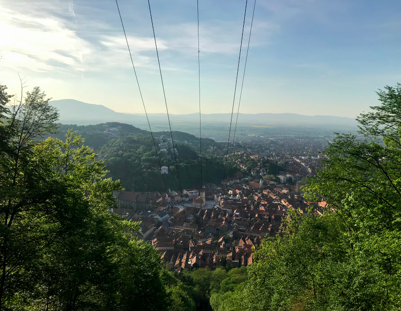 cable car in Brasov