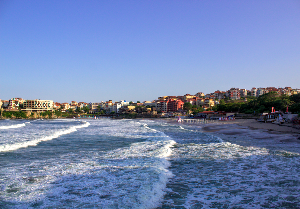 sozopol guide: central beach in sozopol