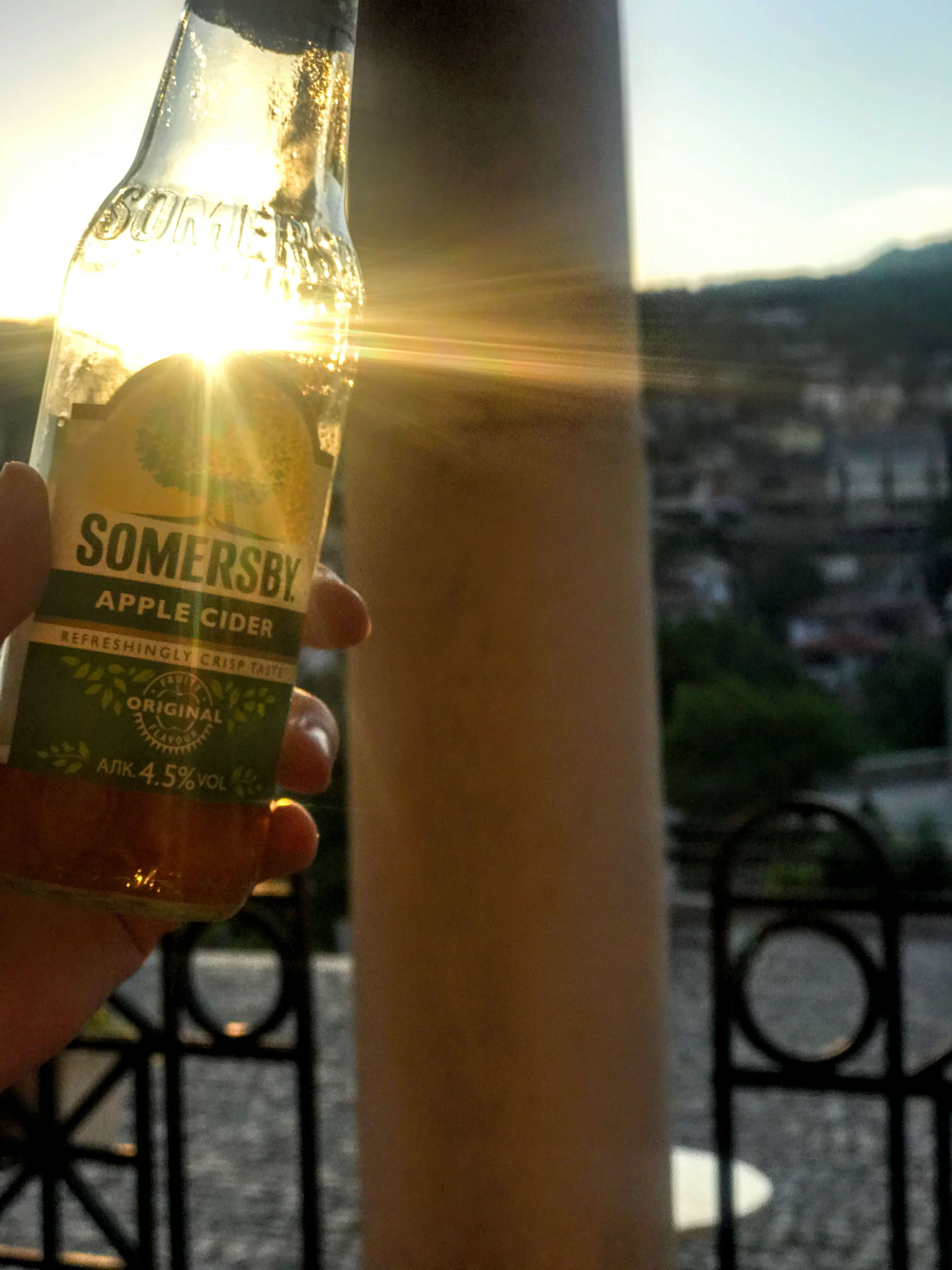 drink with view of Asen's Monument