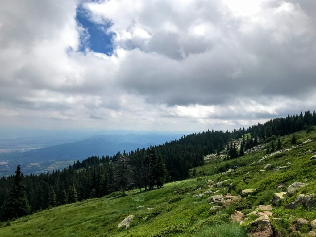 hiking to the peak of Vitosha Mountain
