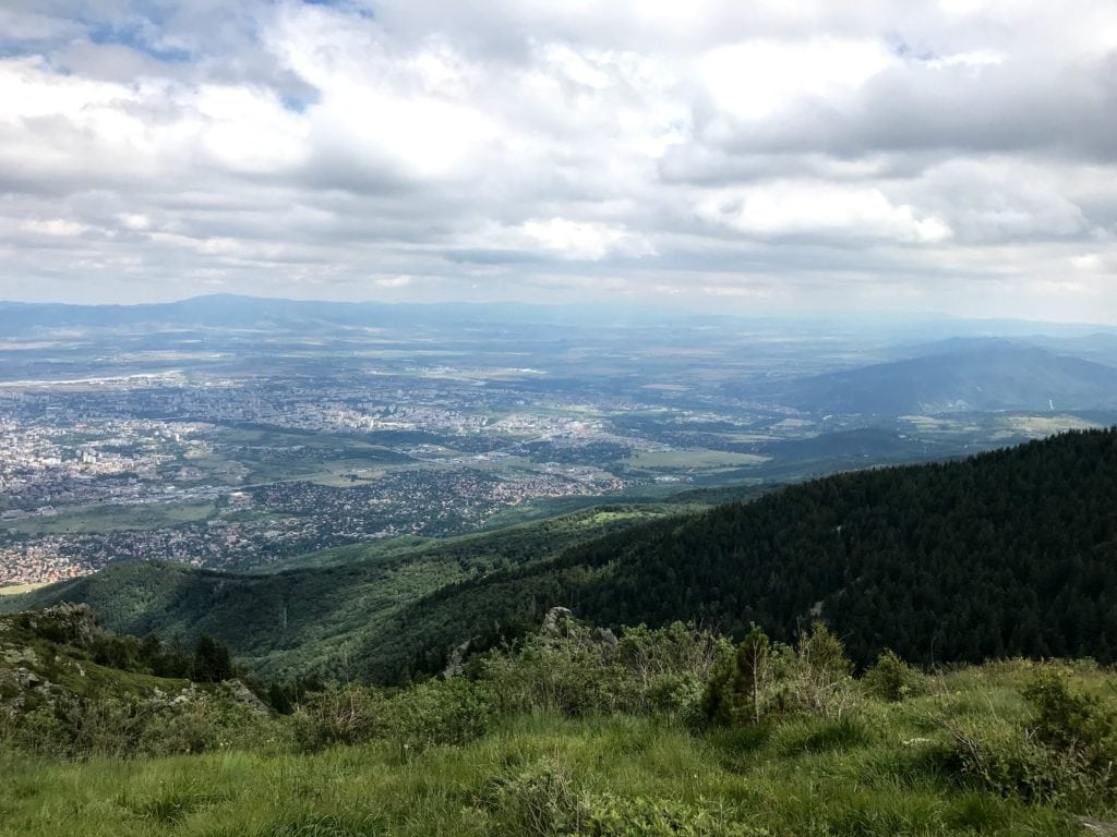view of Sofia from Kamen Del