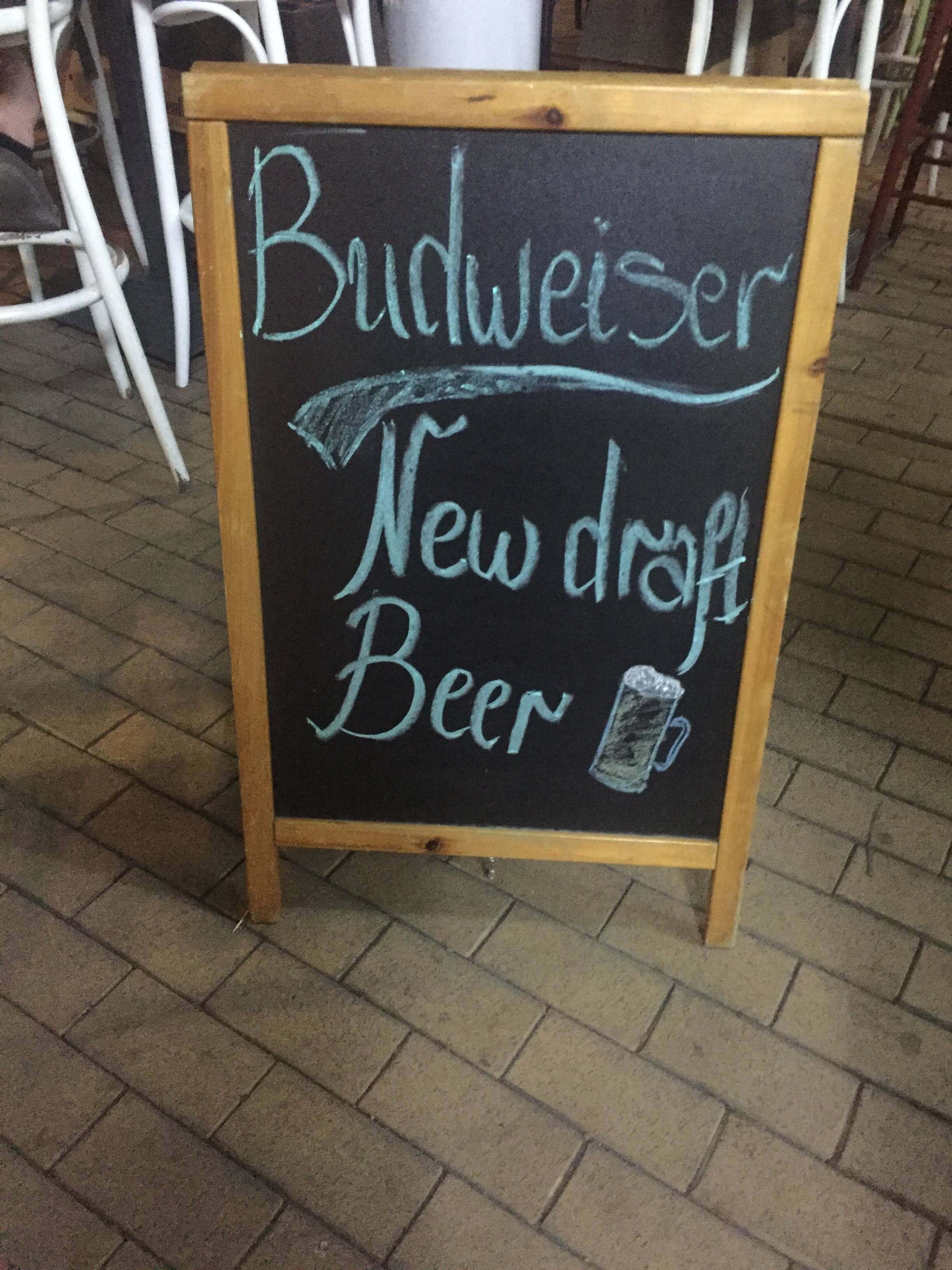 Budweiser sign in Sofia