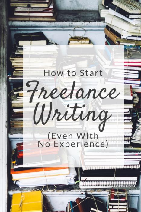 how to start freelance writing Pinterest pin