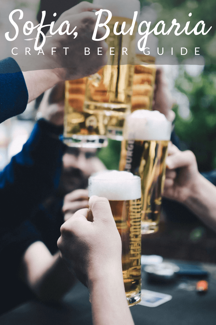 Craft beer in Sofia Pinterest pin