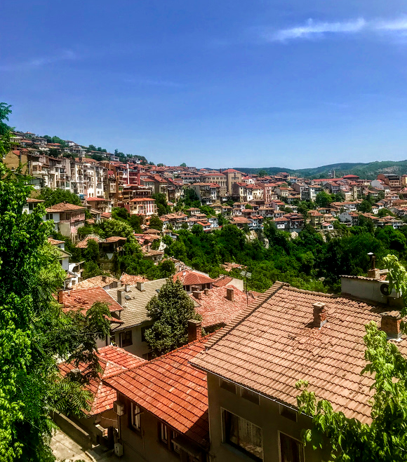 Veliko Tarnovo, a cliffside town in Bulgaria
