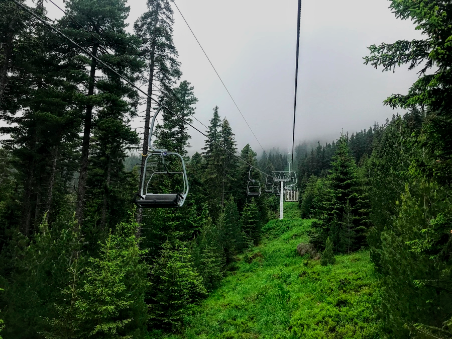 chair lift at the start of the Seven Rila Lakes hike