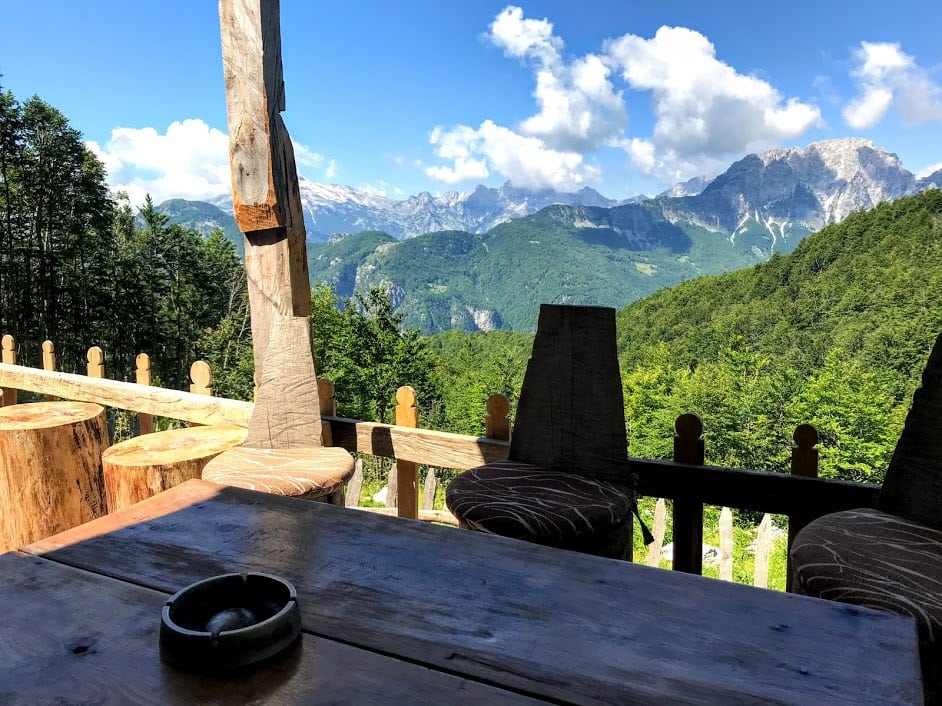 cafe on the hike from Theth to Valbona Peak