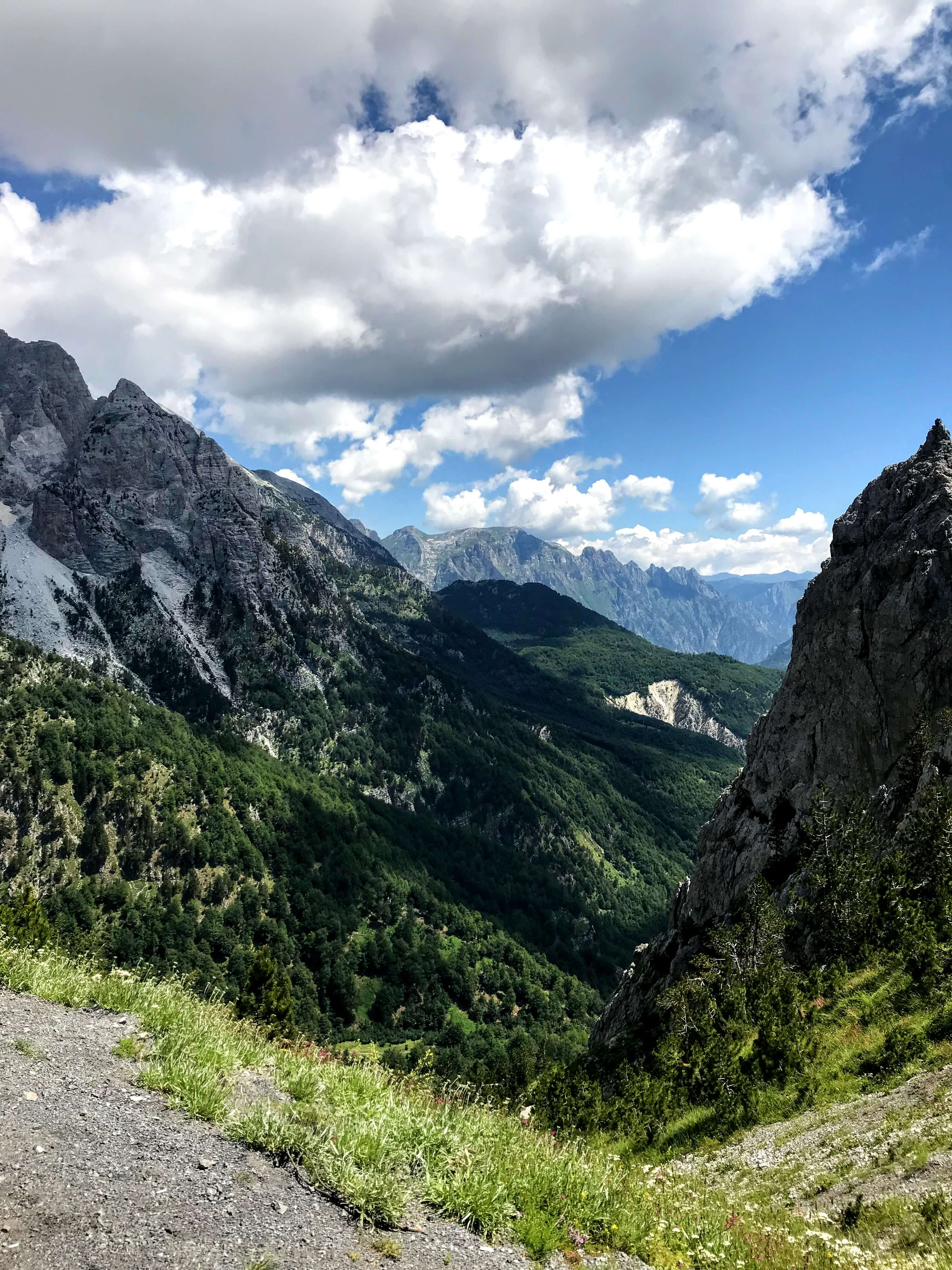 View of Valbona Valley from Valbona Peak