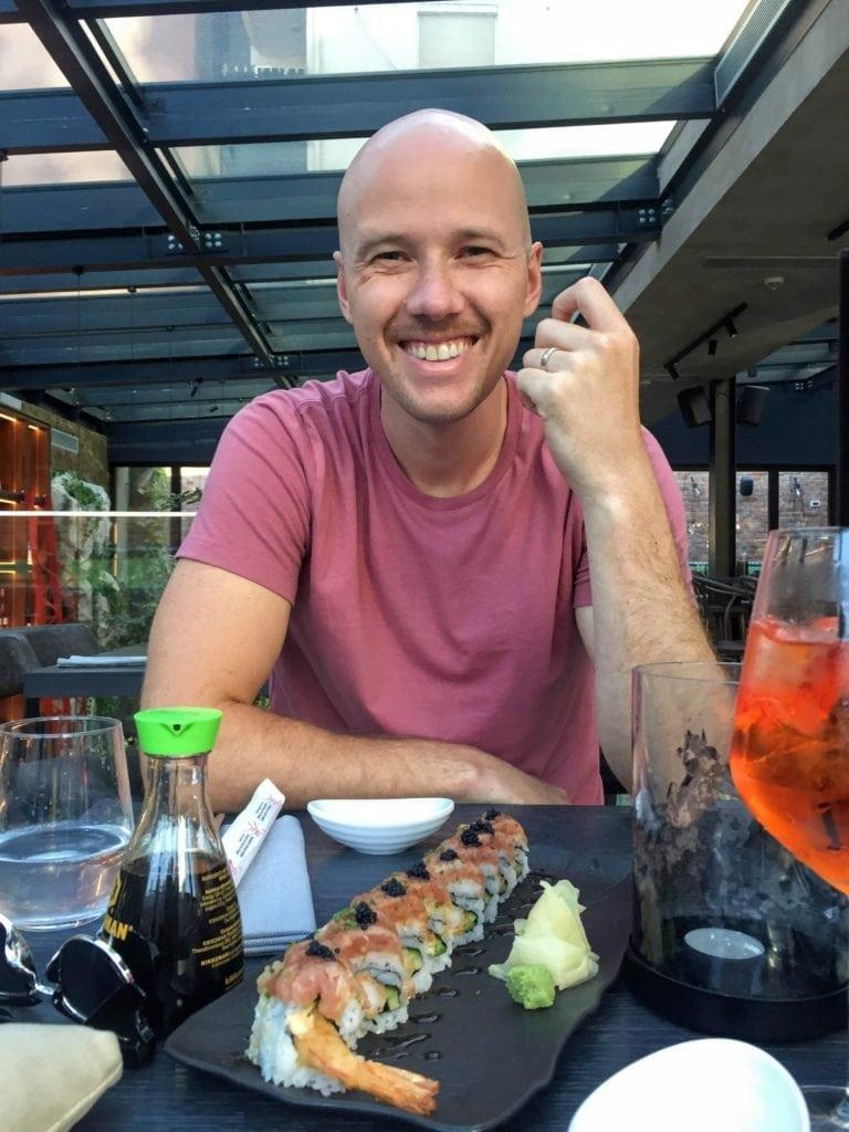 Sushi at Salt restaurant in Tirana