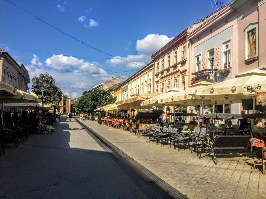 center of Novi Sad, Serbia