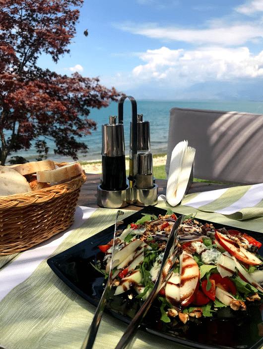 lunch on Shkoder Lake in Albania