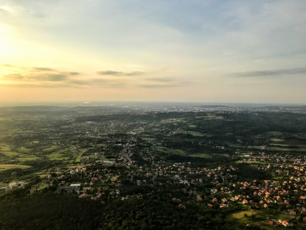 view from Avala Tower in Belgrade