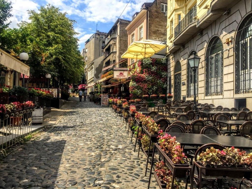 Skadarlija Street, one of the best instagram spots in belgrade