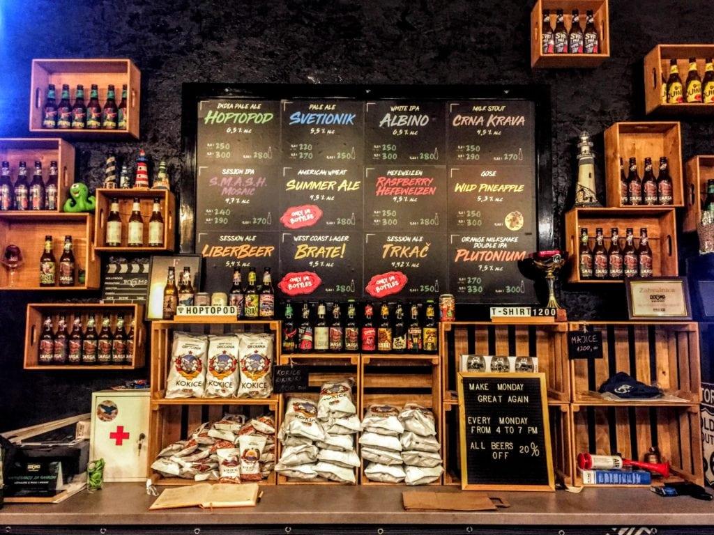 Dogma Brewery menu