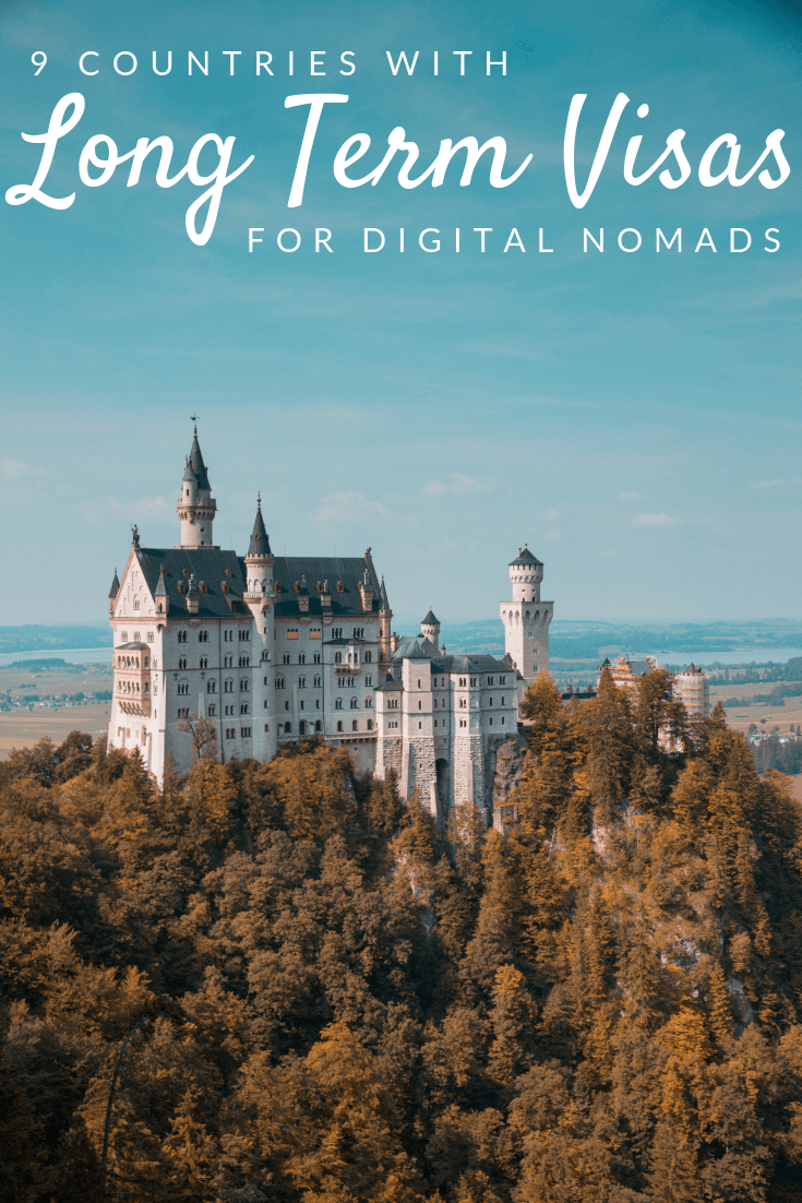 visa for digital nomads Pinterest pin