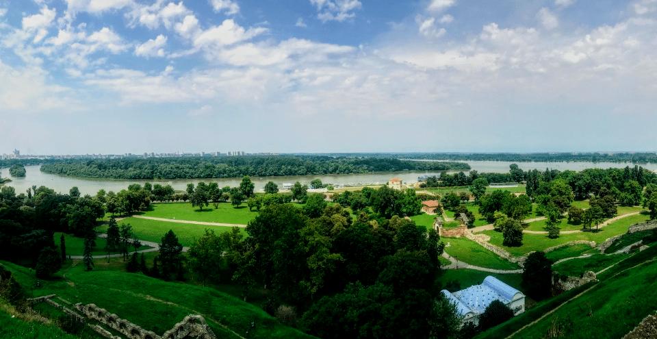 Sava and Danube Rivers in Belgrade