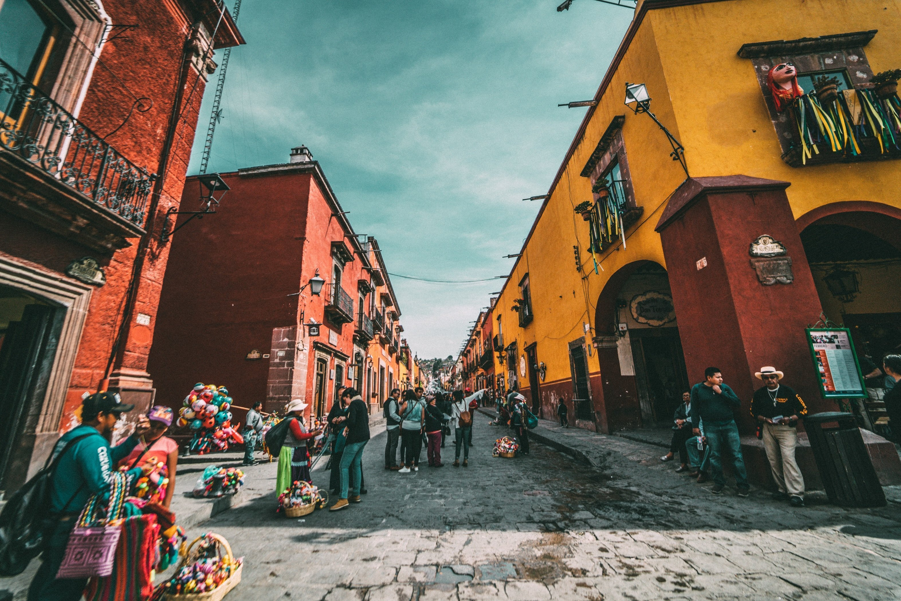 the colorful streets of Mexico