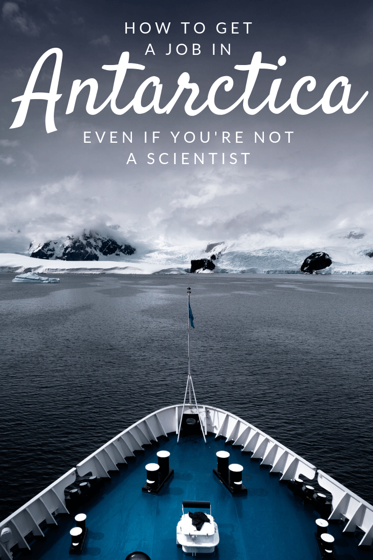 How to get a job in Antarctica Pinterest pin