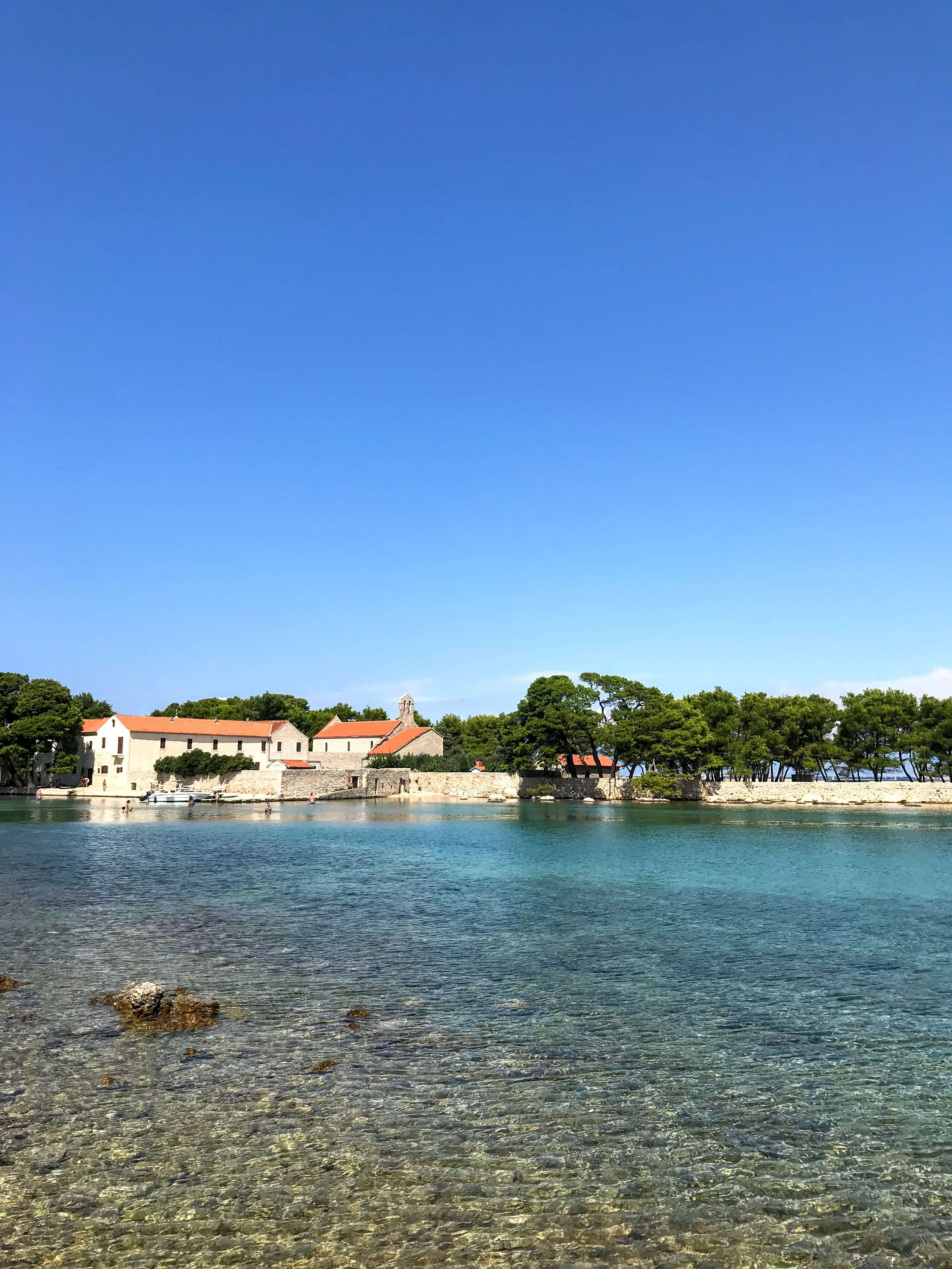 swimming on Ugljan Island in Croatia