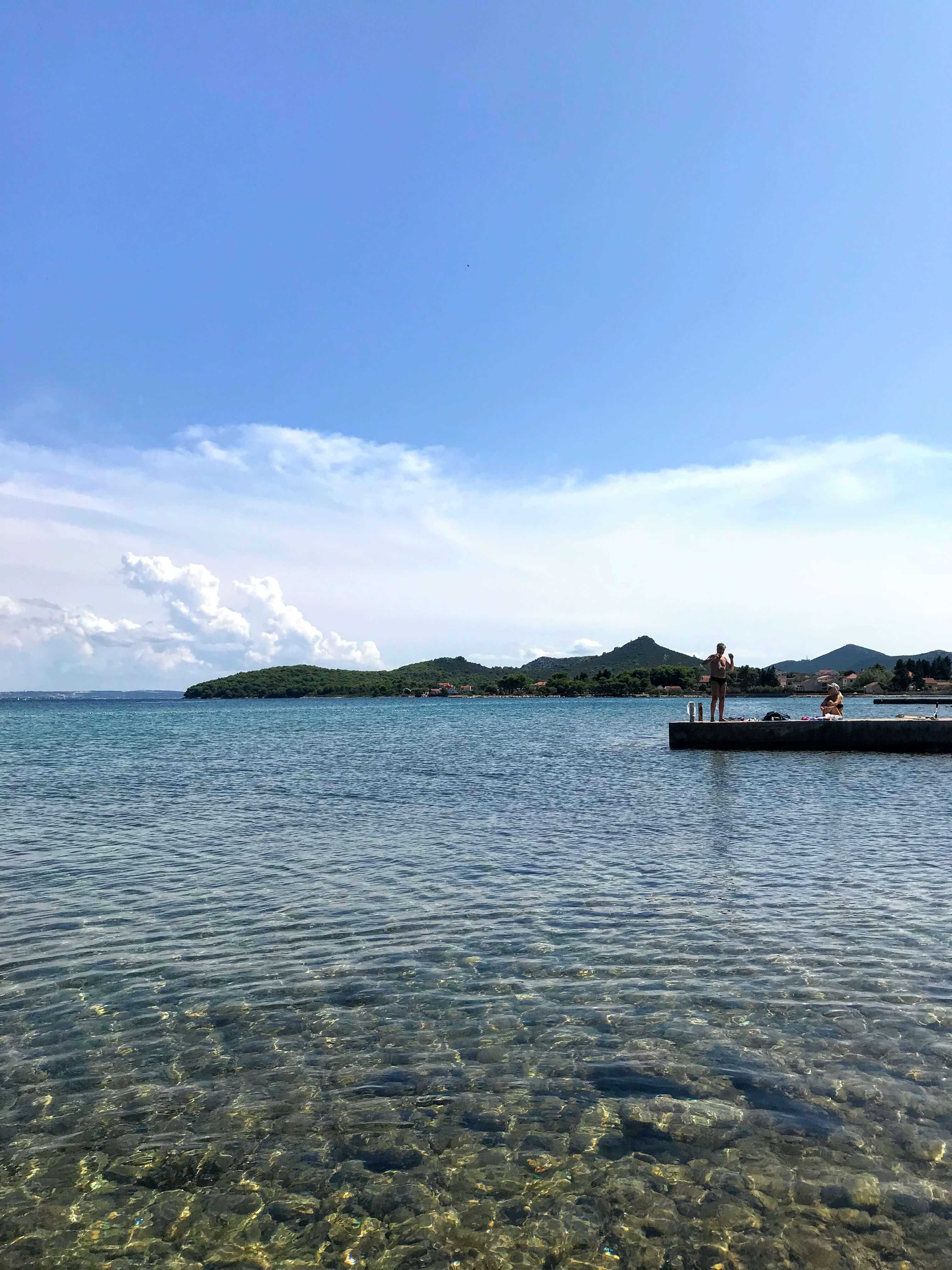 swimming in Ugljan, Croatia