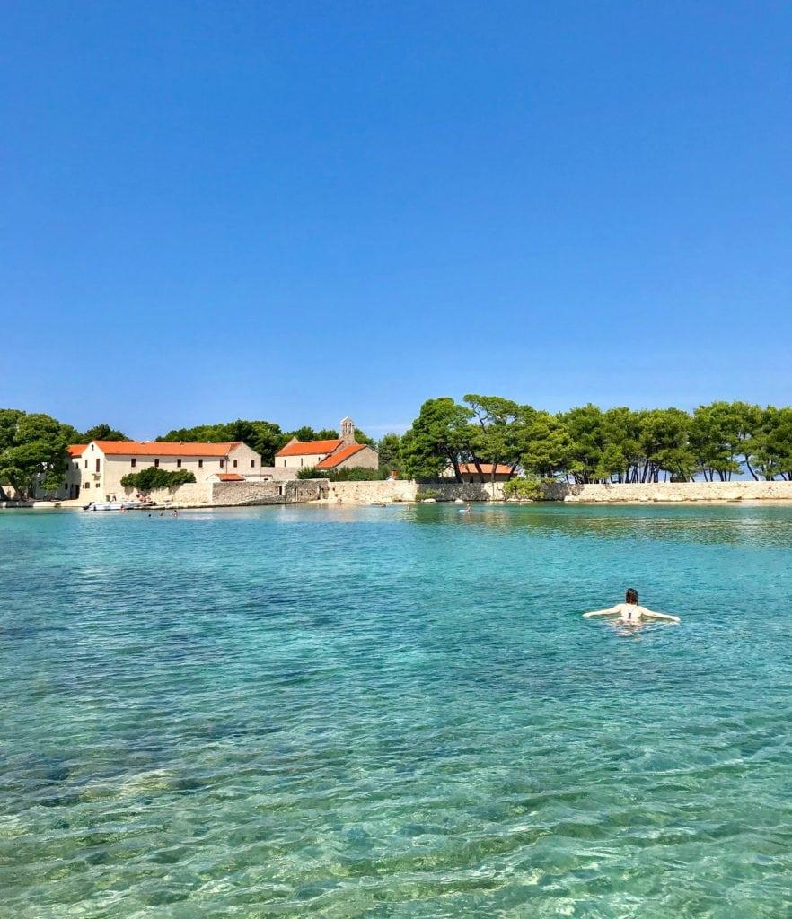 swimming off the coast of Ugljan Island