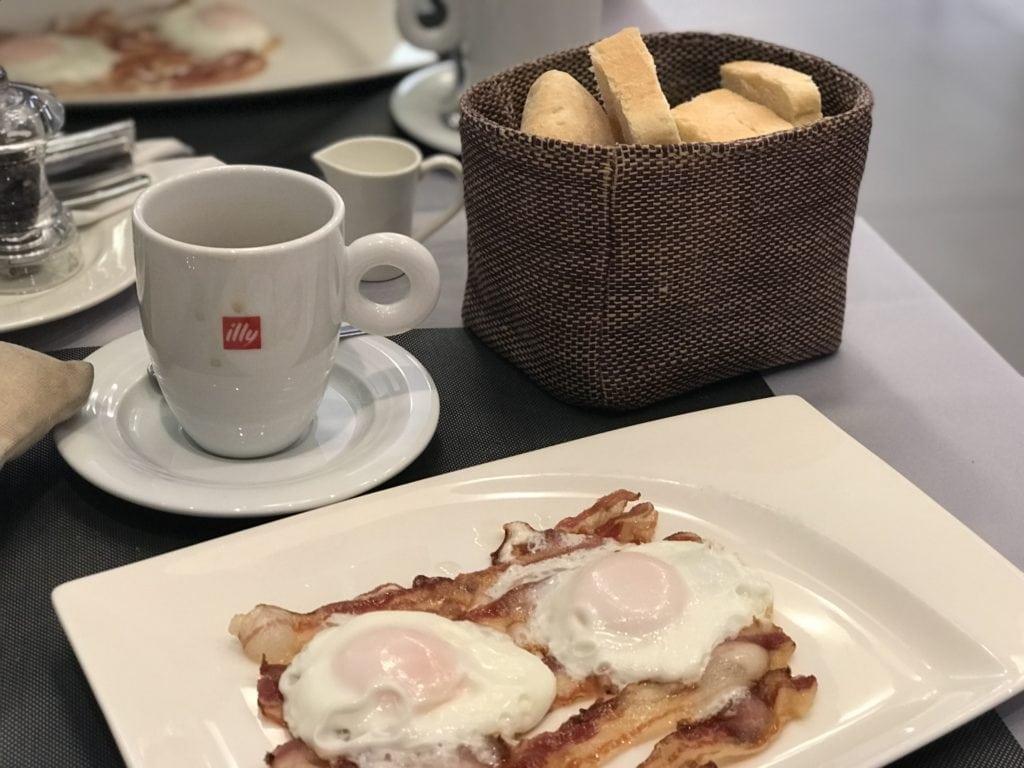 breakfast at Bistro Gourmet Kalelarga in Zadar, Croatia