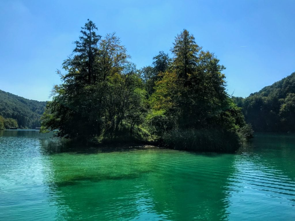 island in Plitvice Lakes National Park