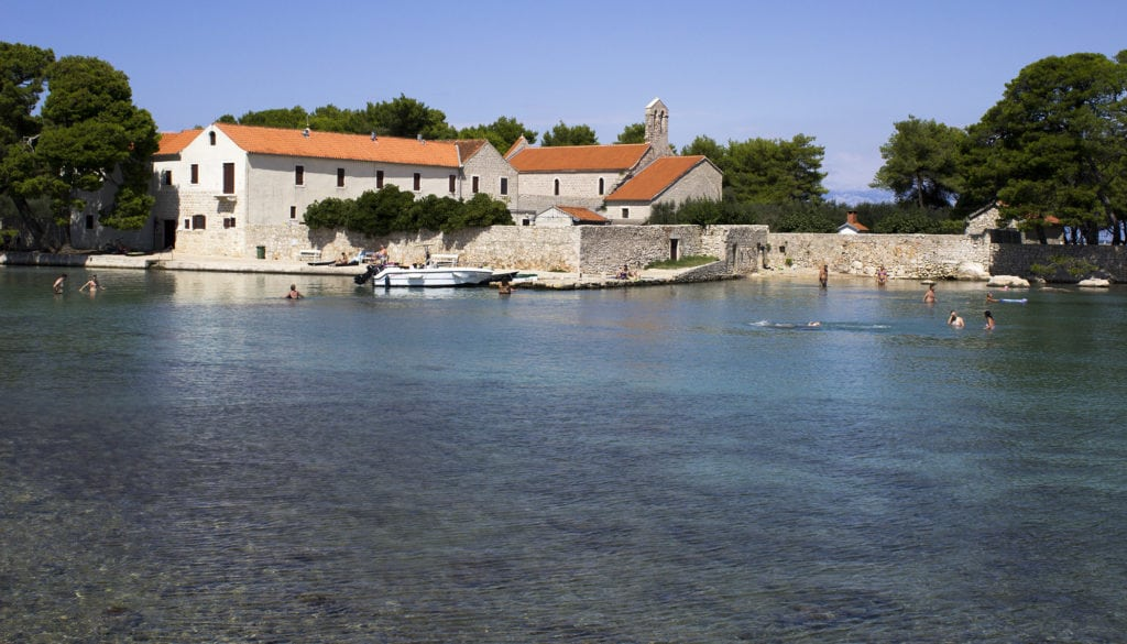 swimming in Ugljan, Croatia