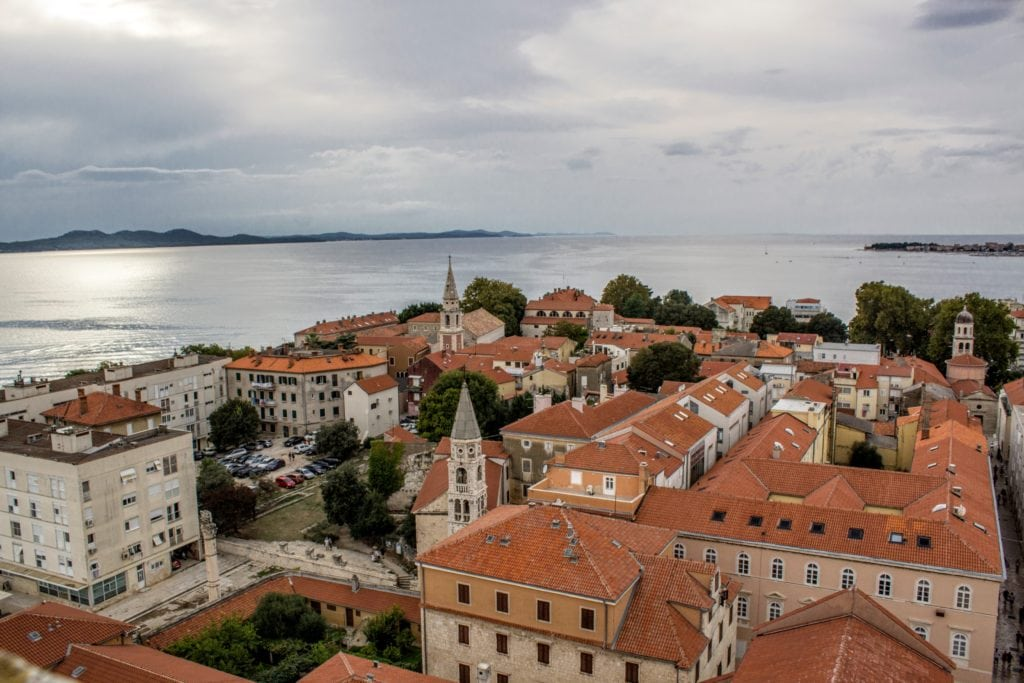 view of Zadar old town from the tower