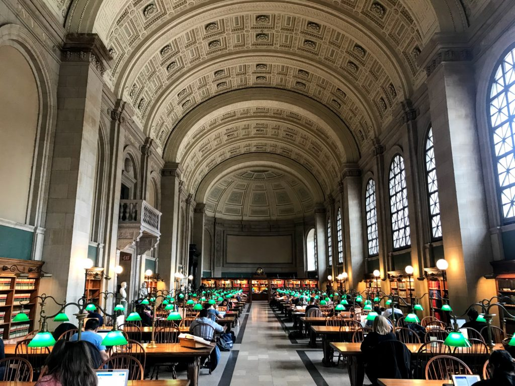Boston Public Library great hall
