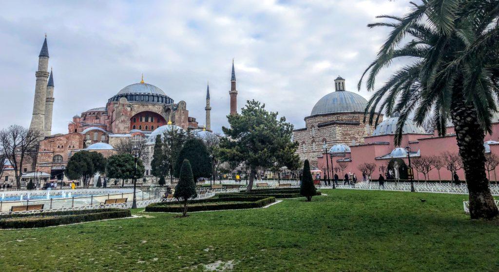 Hagia Sofia in the Sultanahmet neighborhood