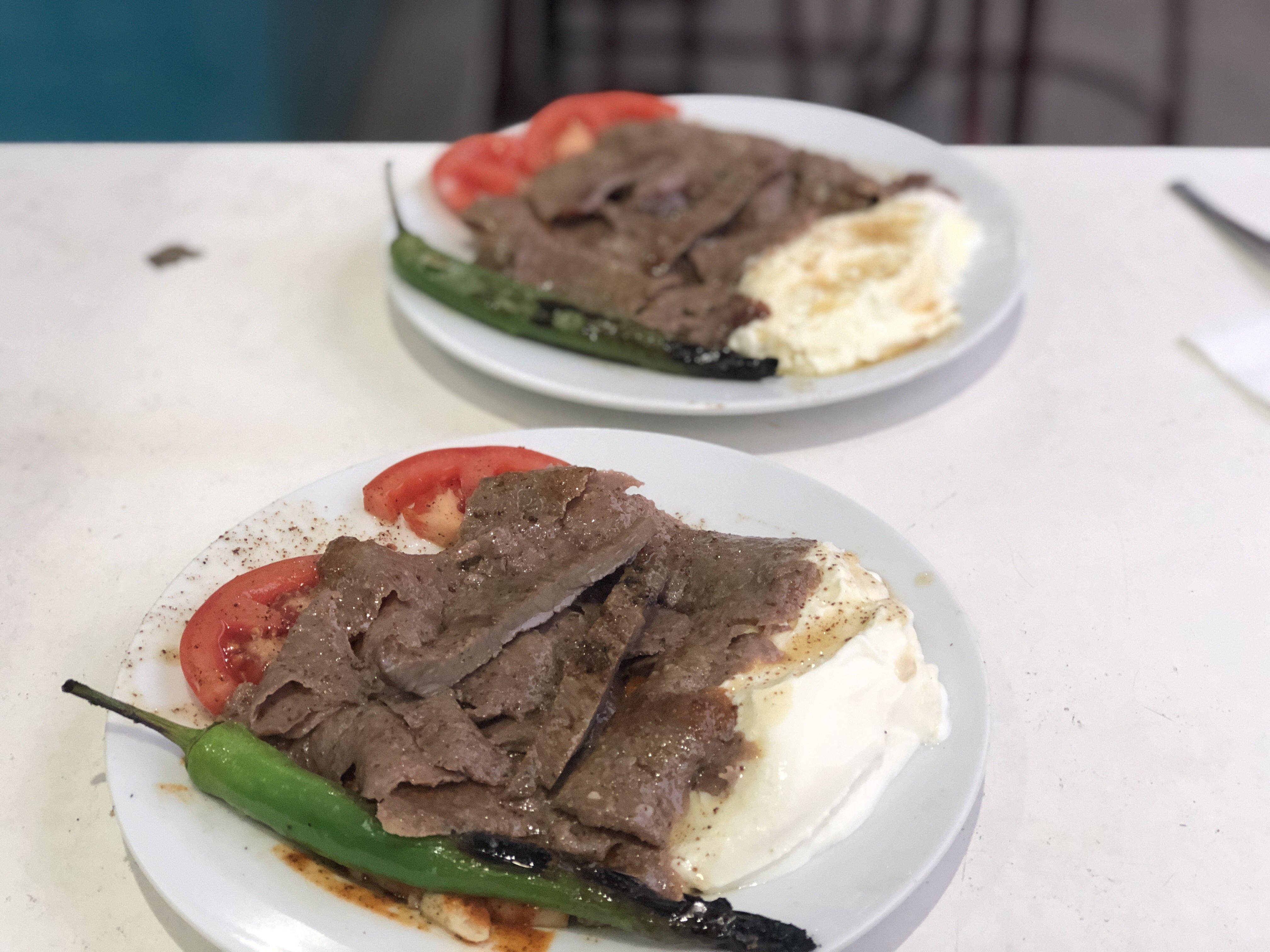 Iskender kebab plate in Bursa