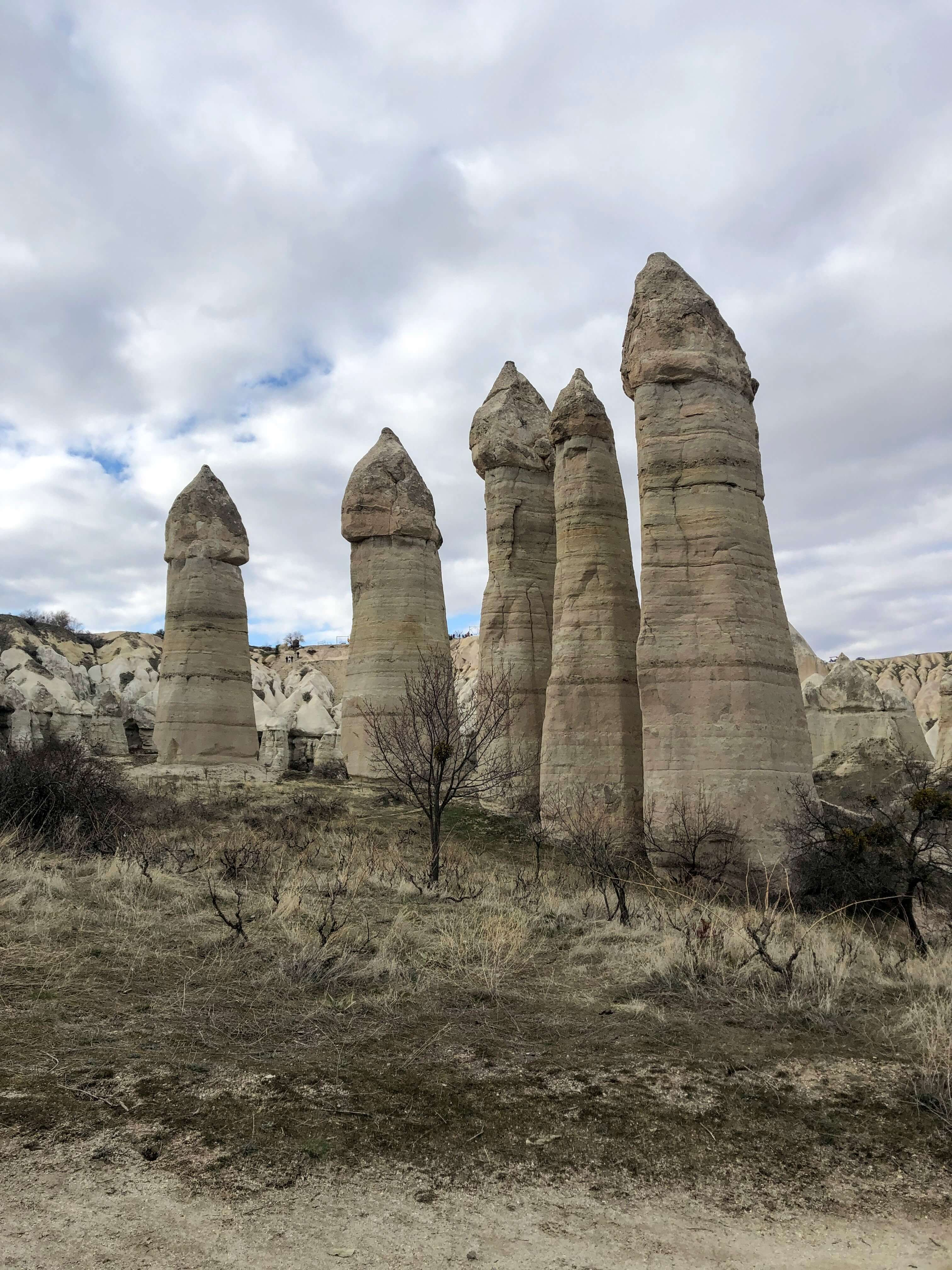 Love Valley in Cappadocia, Turkey
