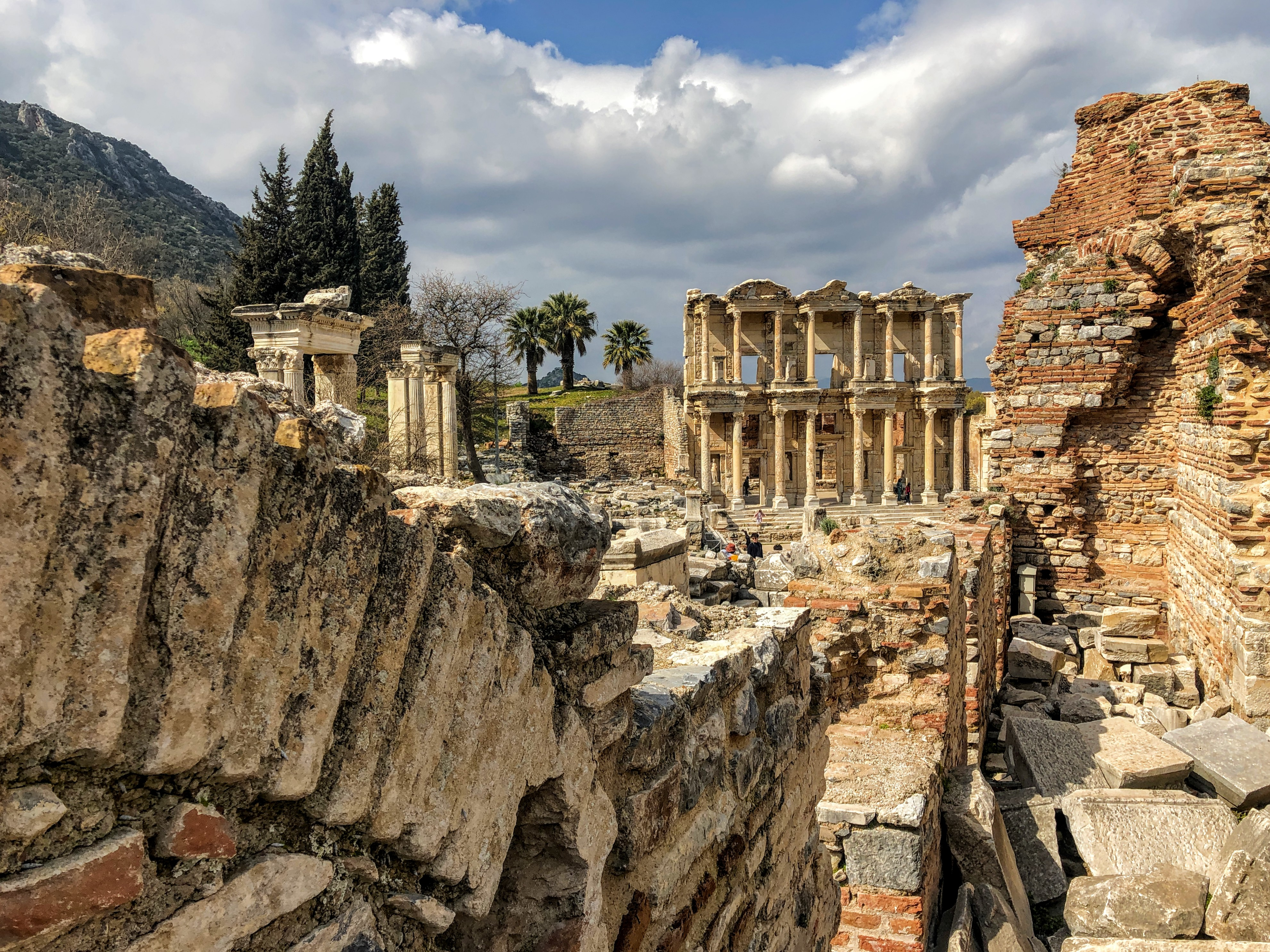 Library at the Ephesus ruins in Turkey