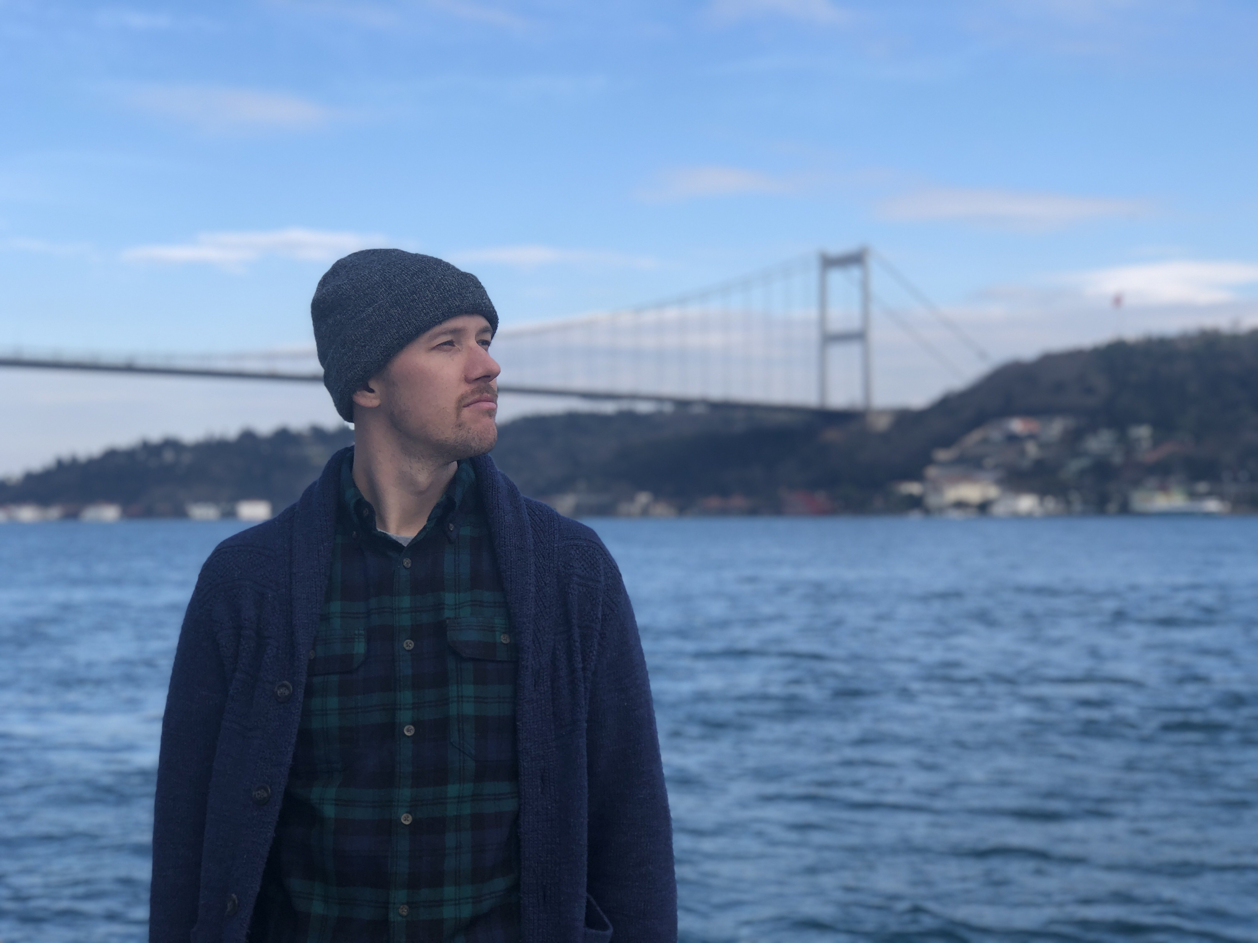 Dan in front of the Bebek bridge
