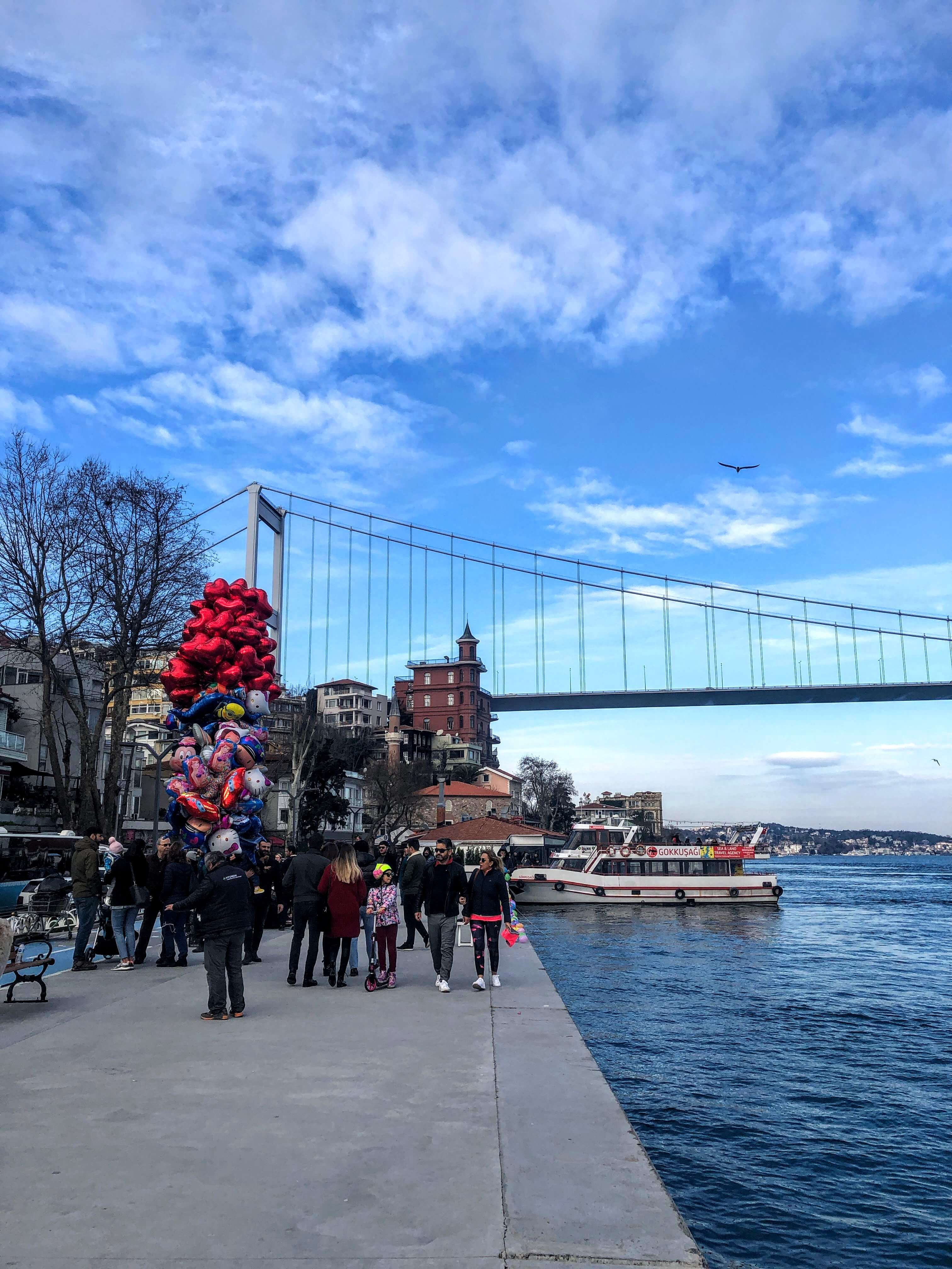 bridge and waterfront in Bebek, Istanbul