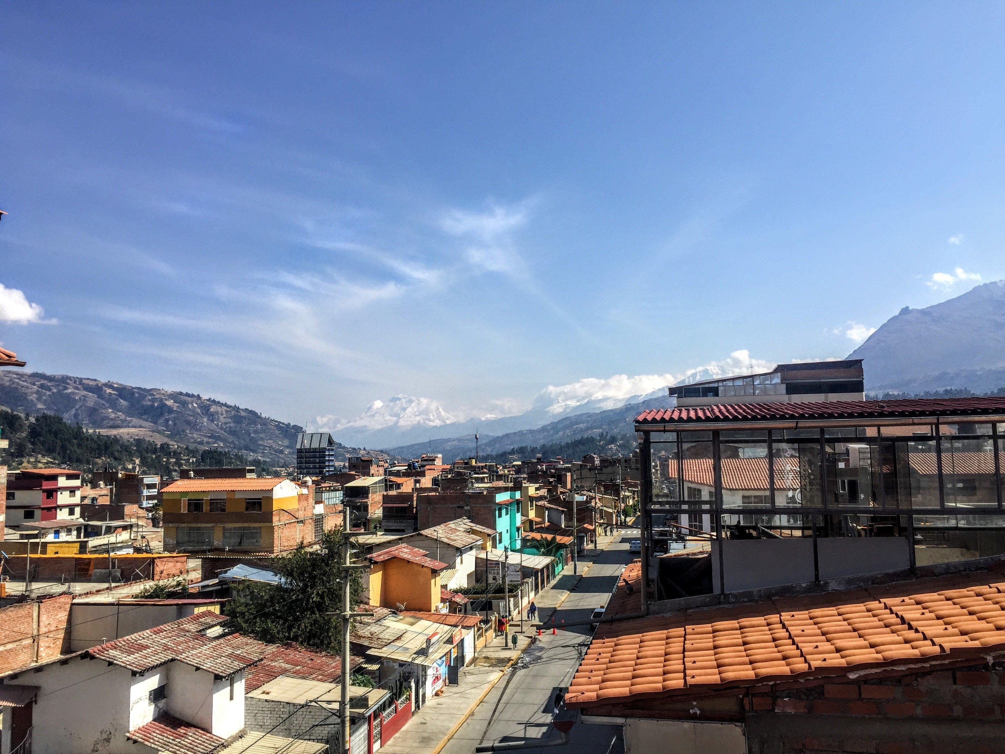 town of Huaraz, Peru