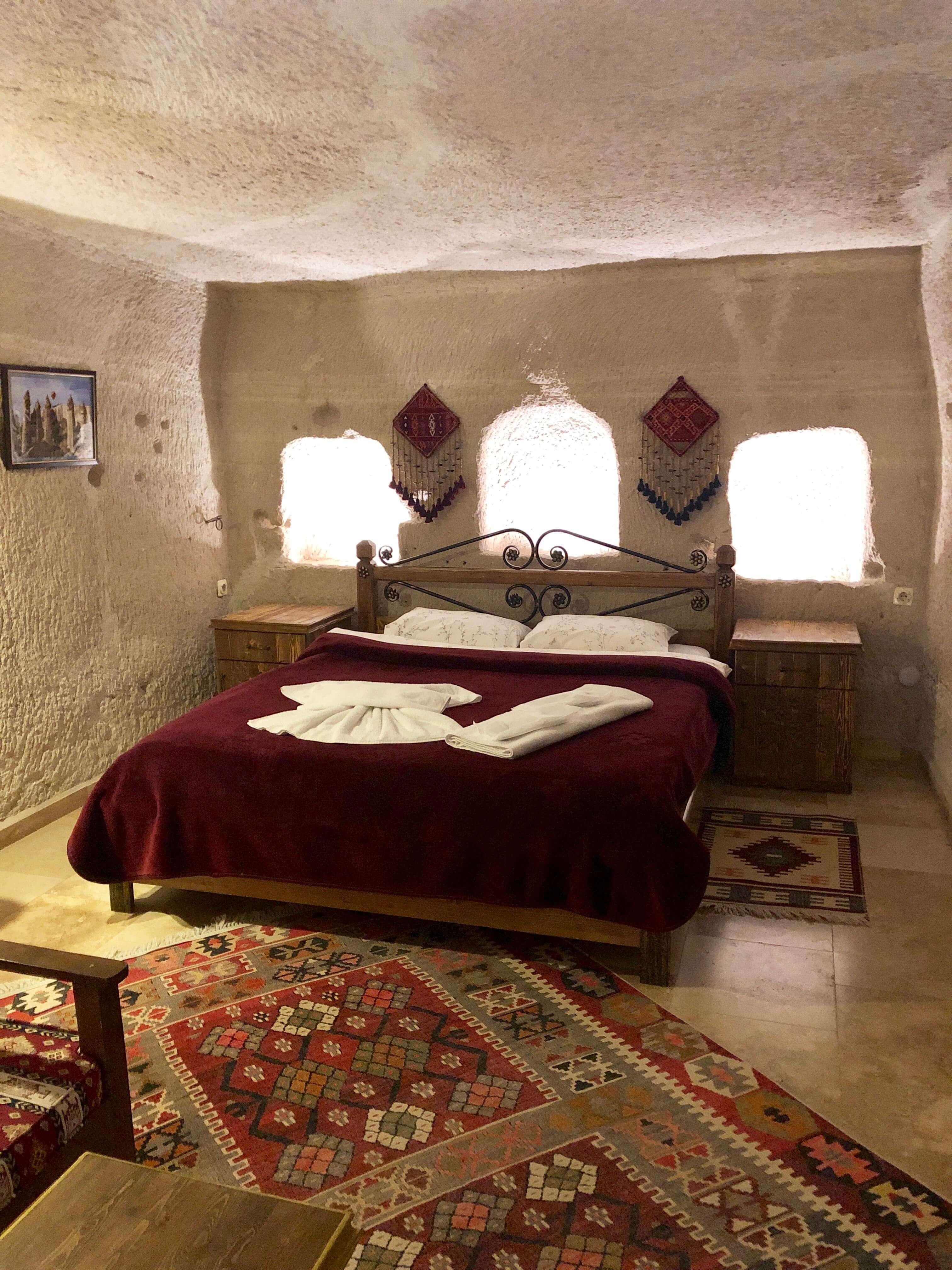 cave hotel room in Cappadocia