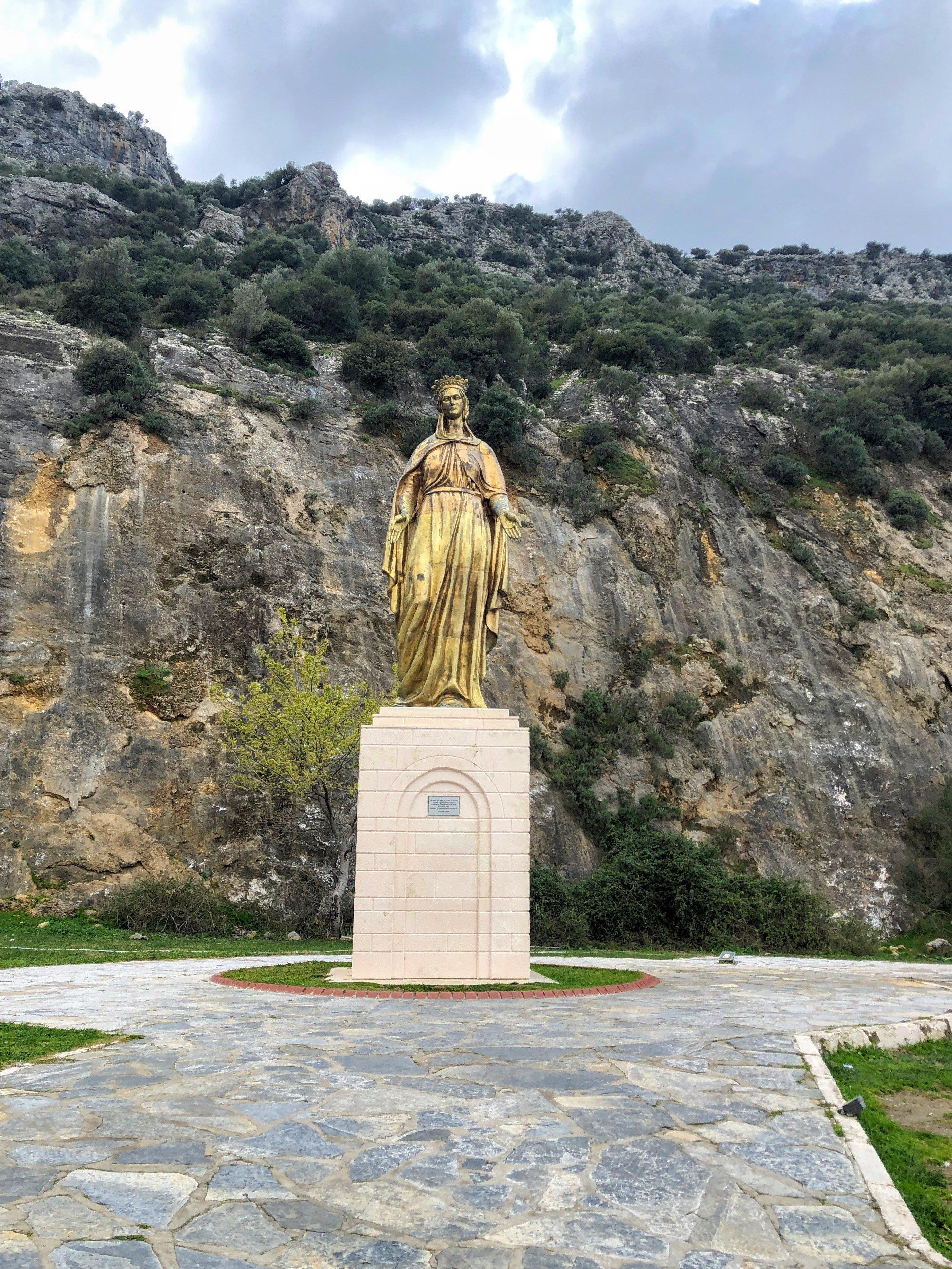 statue of Mary in Ephesus, Turkey