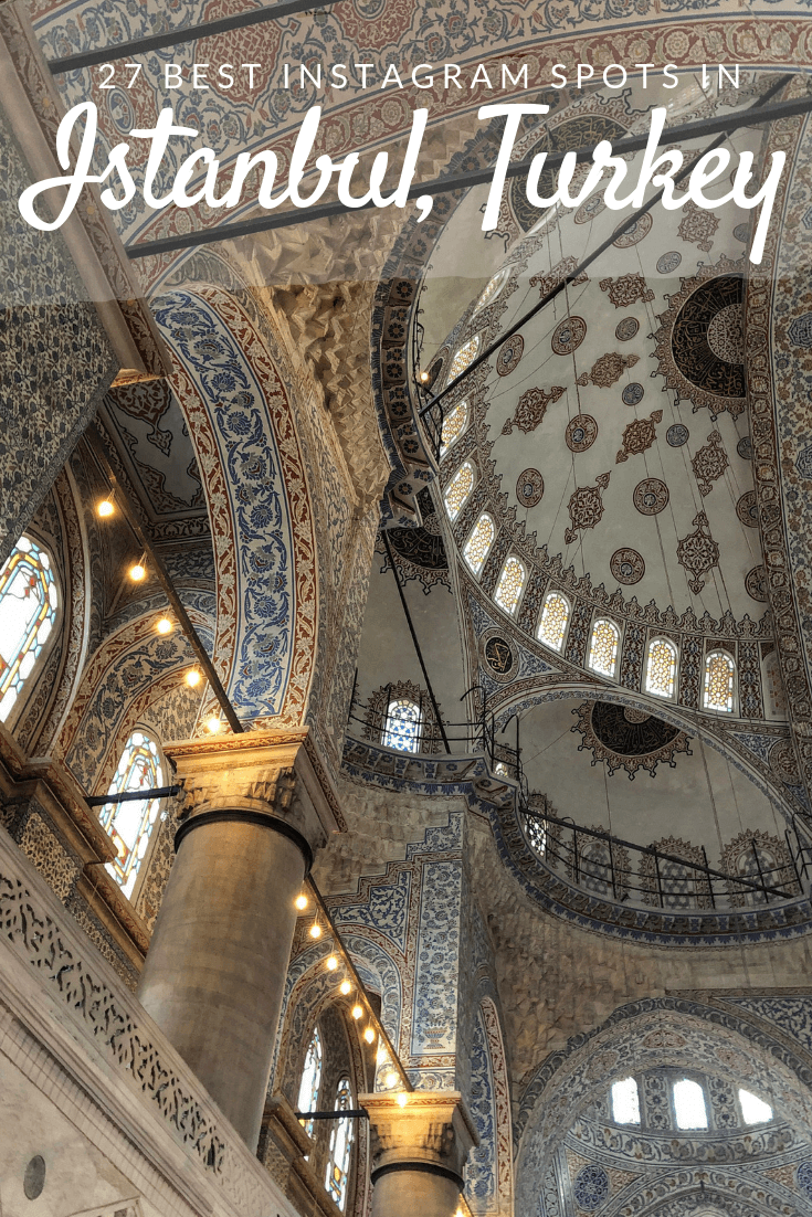 Best Instagram Spots In Istanbul Pinterest pin