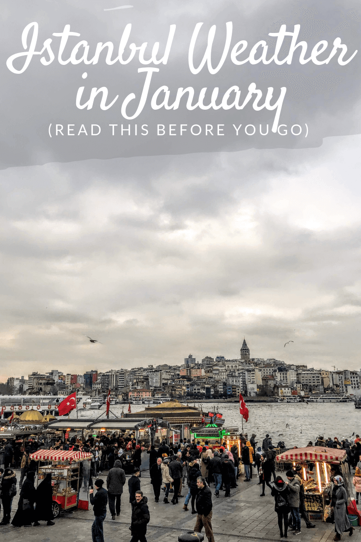 Istanbul weather in January Pinterest pin