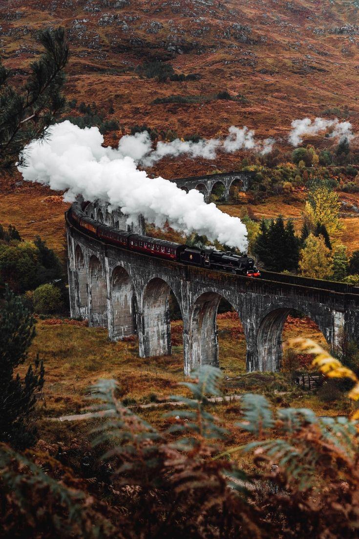 train in Scotland in the fall