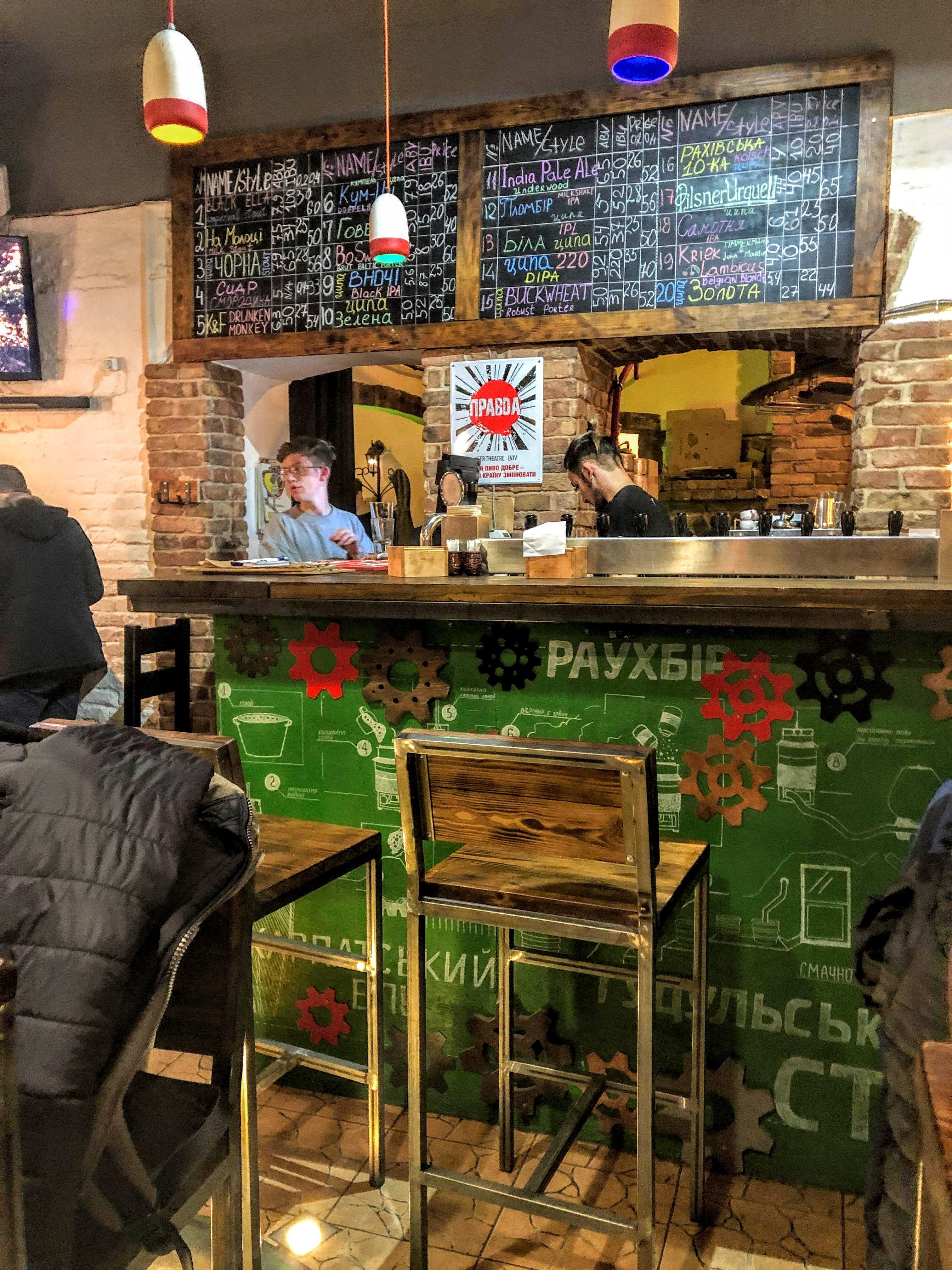 Tyspa brewery in lviv