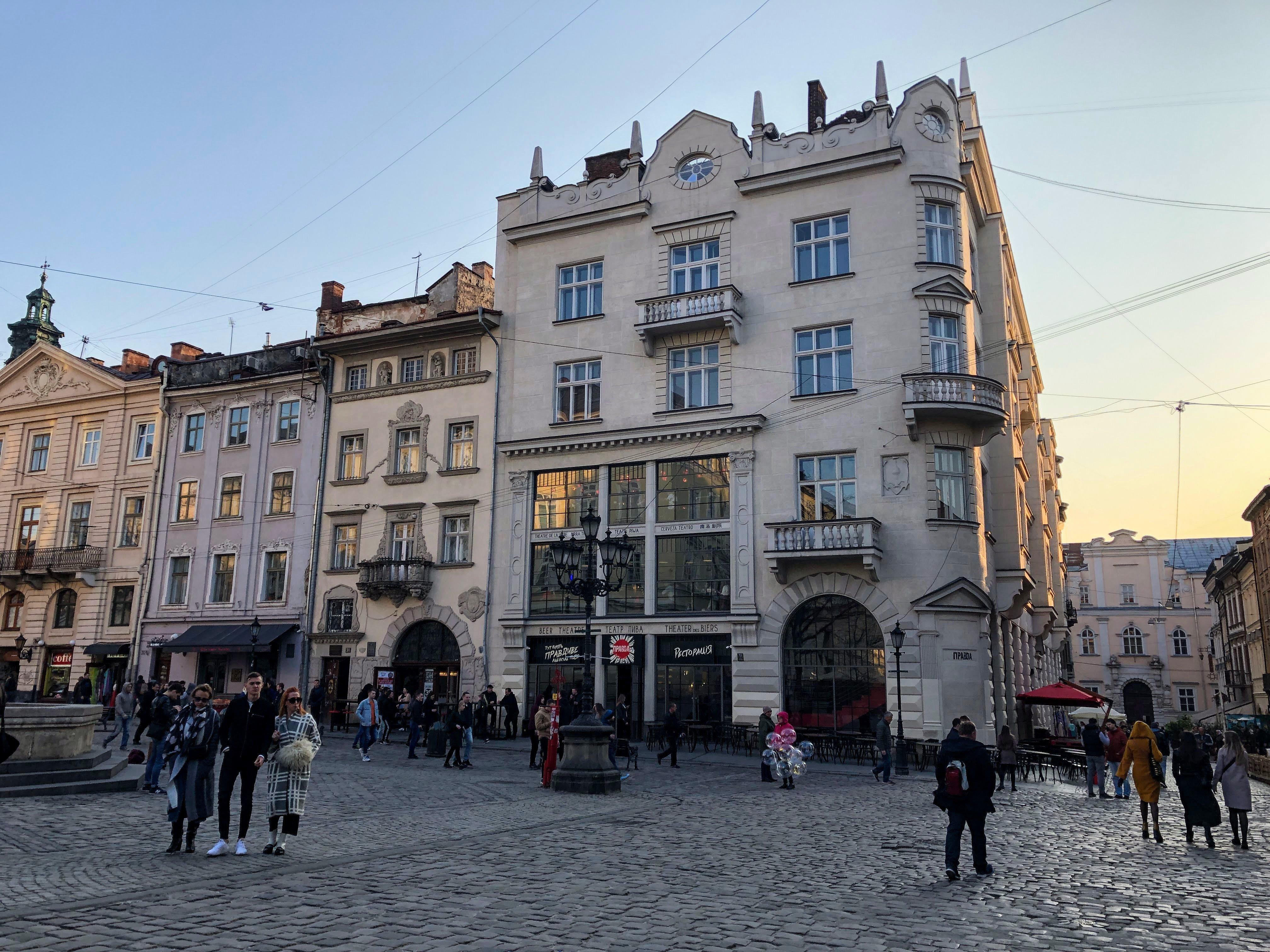 Pravda Beer Theater in Lviv, Ukraine