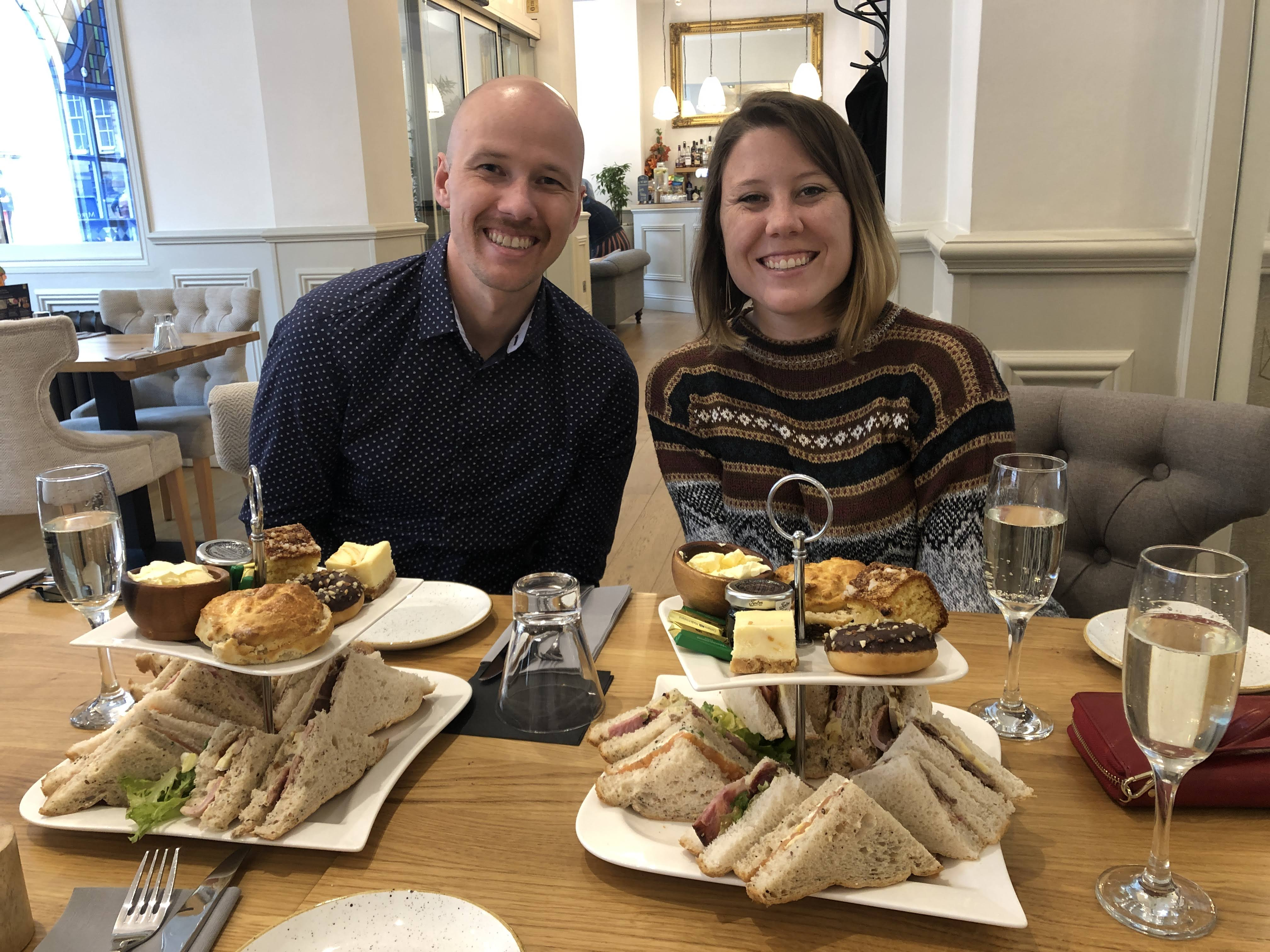 afternoon tea at the Royal King's Arms Hotel in Lancaster