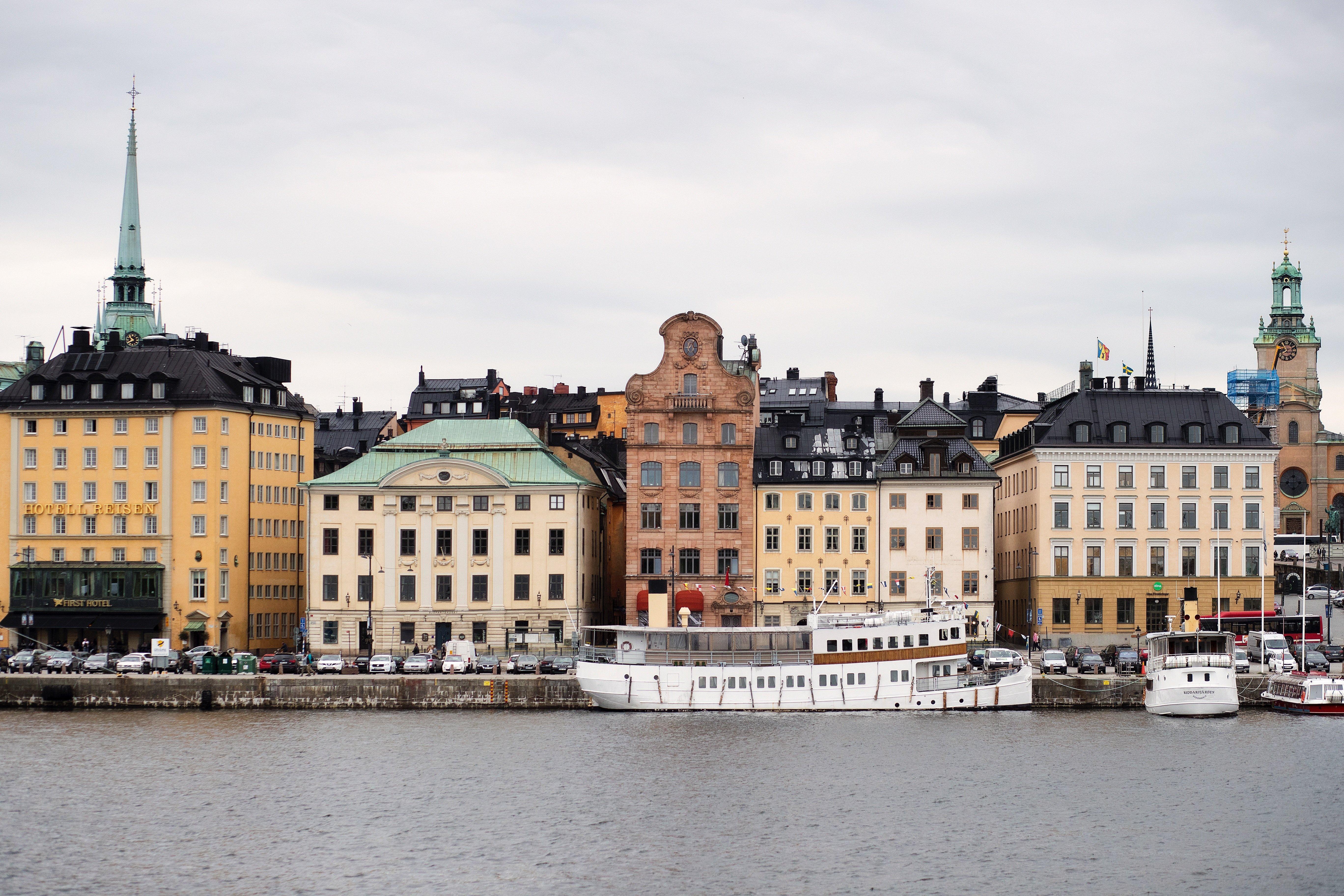 old buildings in the Gamla Stan neighborhood in Stockholm