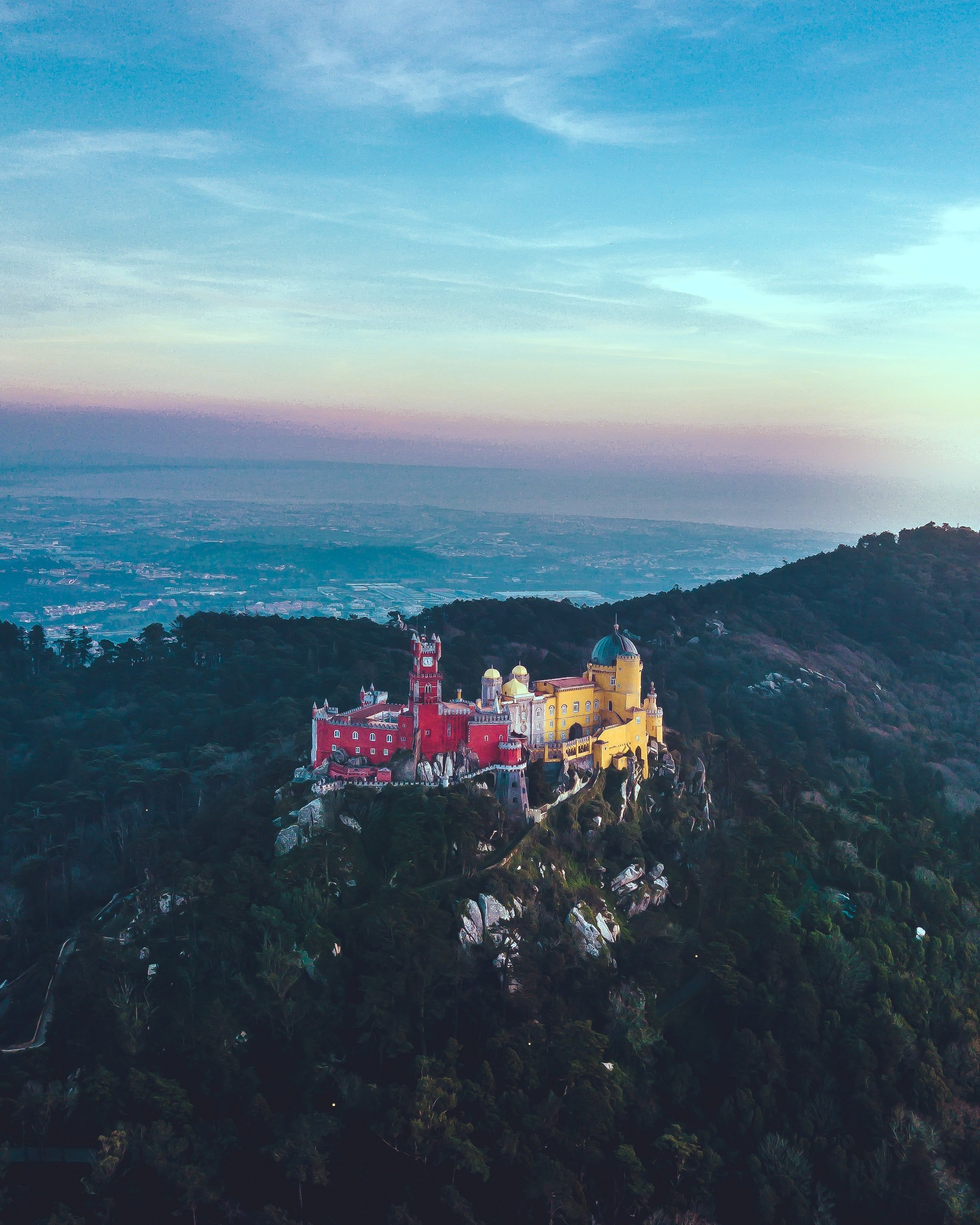 castles in Sintra, Portugal