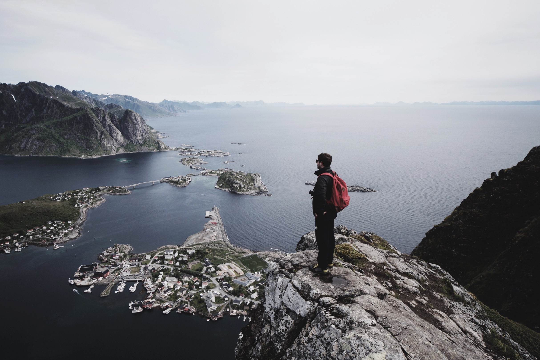 Hiking in the Lofoten Islands in Norway