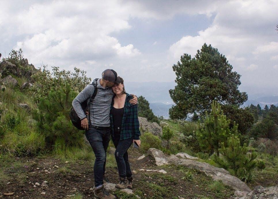 Dan and Di at the top of Cerro El Caballete