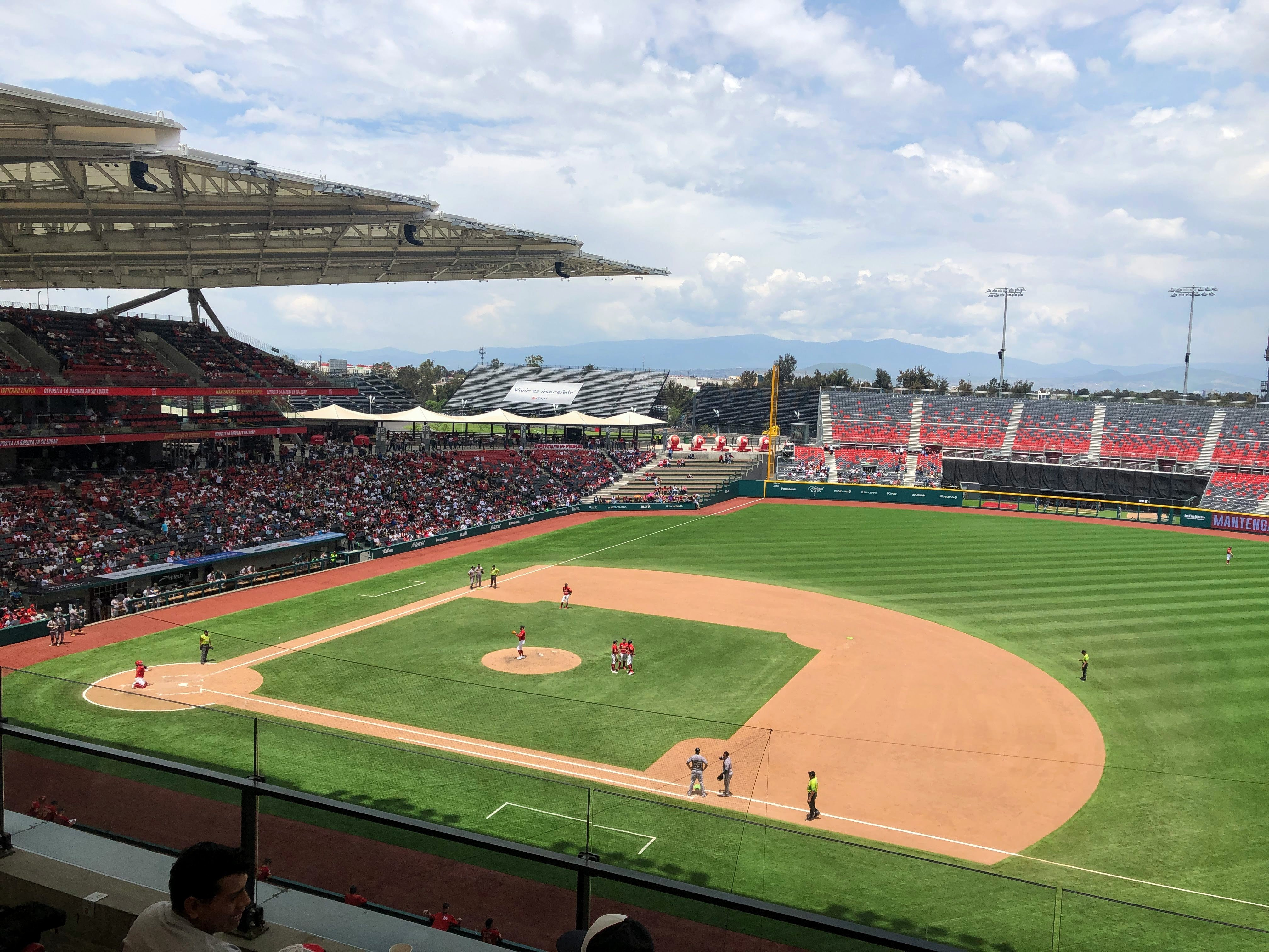 DIablos Rojos baseball game in Mexico City